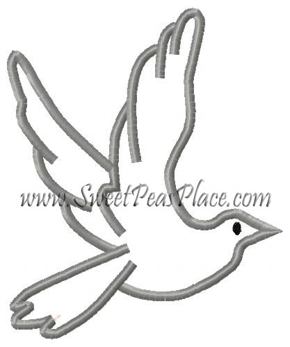 Flying Dove Applique Embroidery Design