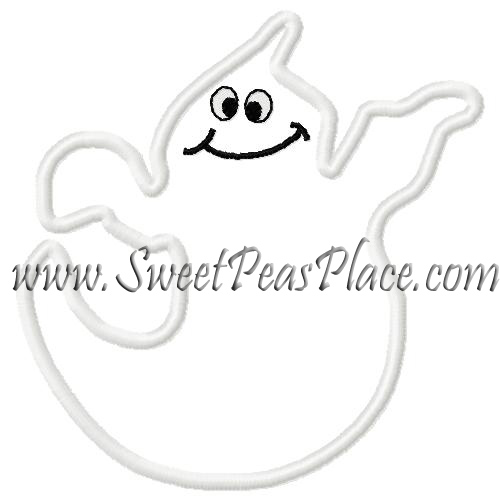 Ghost Four Applique Embroidery Design