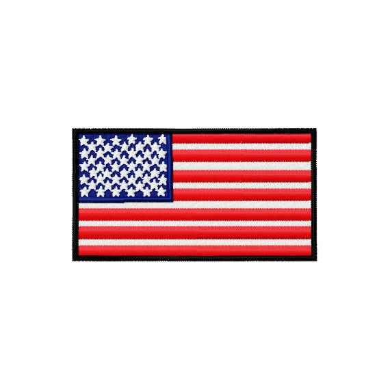U.S. Flag Embroidery Design